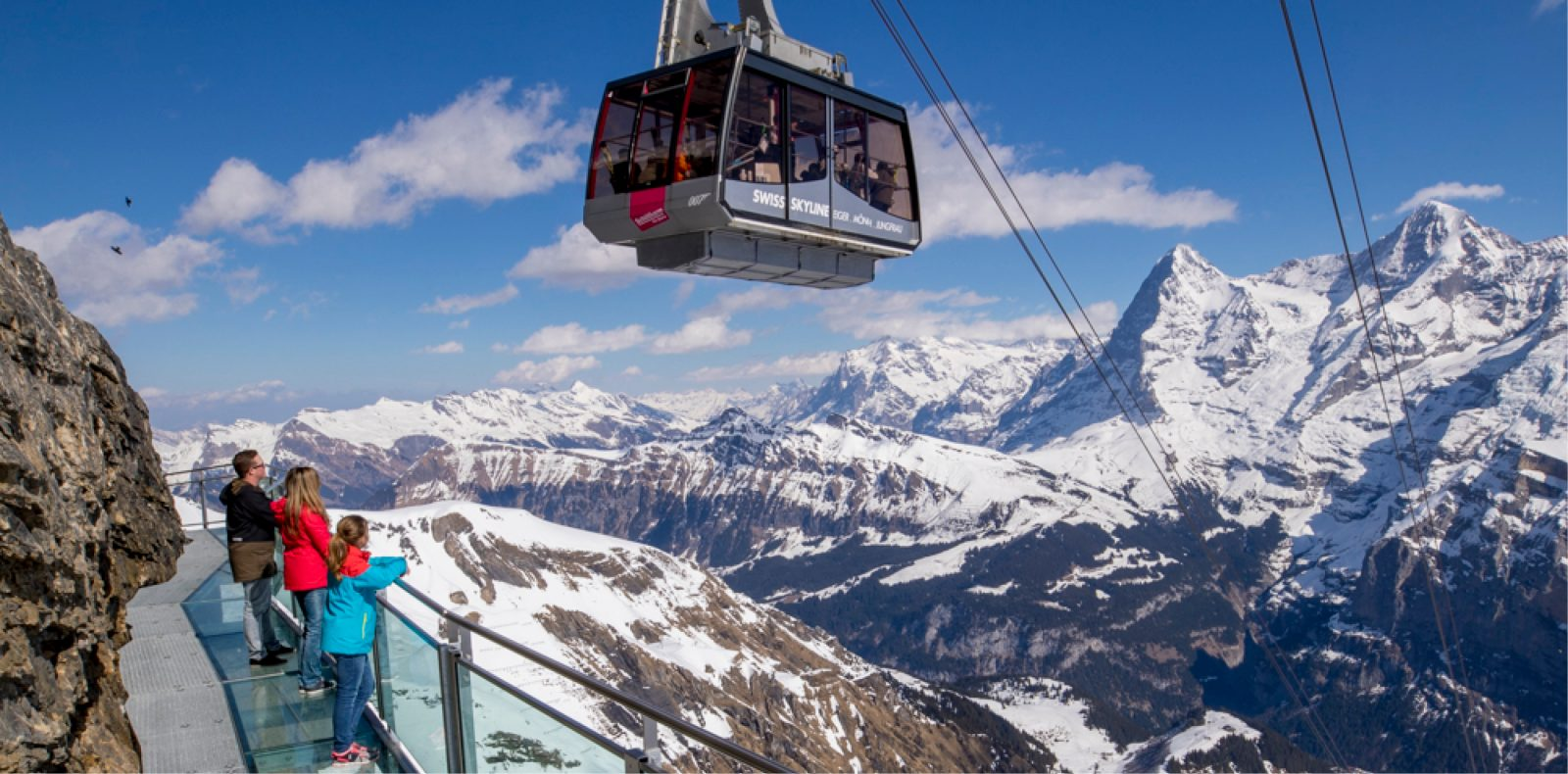 Birg Thrill Walk am Schilthorn.