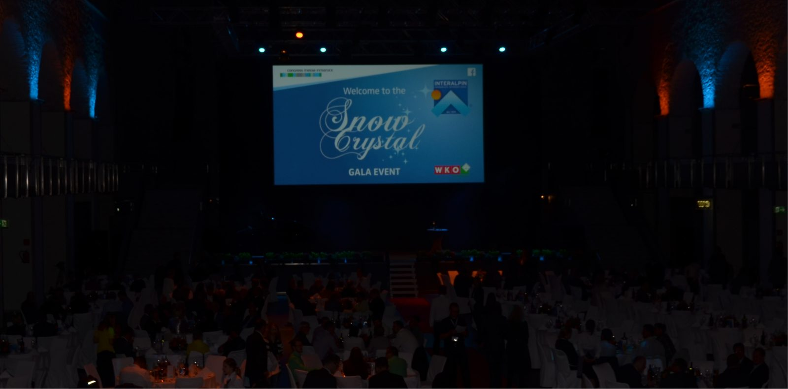 Das Snow Crystal Gala Event in der Dogana Innsbruck.