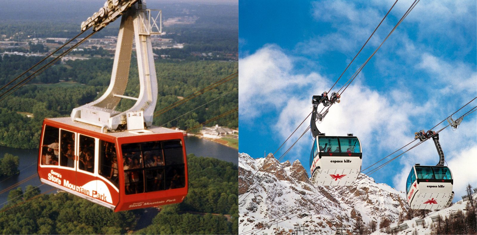 Stone Mountain in Atlanta 1996 und L'Olympique in Albertville 1992.